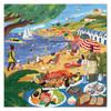 Beach Umbrellas - 1000pc Square Jigsaw Puzzle by eeBoo
