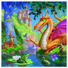 Kind Dragon - 1000pc Square Jigsaw Puzzle by eeBoo