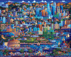 Los Angeles - 1000pc Jigsaw Puzzle by Dowdle