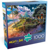 Day to Night: Beach Cabin - 1000pc Jigsaw Puzzle by Buffalo Games
