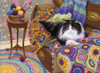 Comfy Cat - 1000pc Jigsaw Puzzle By Cobble Hill