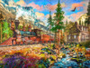 Mountain Train - 550pc Jigsaw Puzzle by Vermont Christmas Company