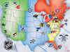 NHL USA Map - 500pc Jigsaw Puzzle by Masterpieces