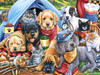 Playful Paws: Camping Buddies - 300pc EZ Grip Jigsaw Puzzle by Masterpieces