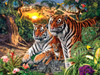 Hidden Images: Jungle Pride - 550pc Glow in the Dark Jigsaw Puzzle by Masterpieces