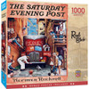 Saturday Evening Post: Road Block - 1000pc Jigsaw Puzzle by Masterpieces