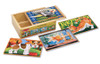 Pets - 4 x 12pc Wooden Jigsaw Puzzles in a Box By Melissa and Doug (discon)