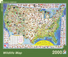Wildlife Map - 2000pc Jigsaw Puzzle by New York Puzzle Company
