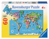 World Map - 60pc Jigsaw Puzzle By Ravensburger