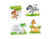 African Animals - 3,4,6,9pc Jigsaw Puzzle By Castorland