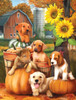 Autumn Puppies - 300pc Large Format Jigsaw Puzzle by SunsOut