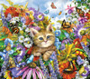Kitty in the Garden - 200pc Jigsaw Puzzle by SunsOut (discon-20439)