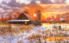 Snow Barn - 550pc Jigsaw Puzzle by Sunsout