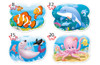 Underwater World - 8,12,15,20pc Shaped Jigsaw Puzzle By Castorland