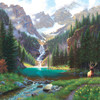 Elk at the Waterfall - 1000pc Jigsaw Puzzle By Sunsout