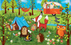 Happy Campers - 100pc Jigsaw Puzzle by SunsOut