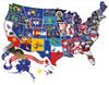 America the Beautiful - 600pc Shape Jigsaw Puzzle by SunsOut