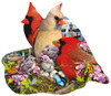 Spring Cardinals - 800pc Shaped Jigsaw Puzzle by Sunsout (discon-21482)