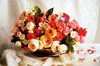 Basket of Roses - 1000pc Jigsaw Puzzle by Tomax