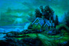 Seaside Cottage - 1000pc Glow-in-the-Dark Jigsaw Puzzle by Tomax