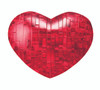 BePuzzled Heart Red 3D Crystal Puzzle