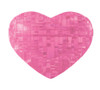 BePuzzled Heart Pink 3D Crystal Puzzle