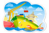 A Day in the Harbour - 12pc Jigsaw Puzzle By Castorland (discon-24173)