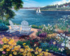 Garden by the Bay - 1000pc Jigsaw Puzzle by White Mountain