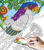 Parrot-2 Sided Coloring Puzzle - 300pc Jigsaw Puzzle By White Mountain