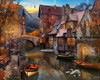 Autumn Canal - 1000pc Jigsaw Puzzle by Vermont Christmas Company