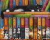 Cat Bookshelf - 1000pc Jigsaw Puzzle by Vermont Christmas Company