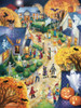 Halloween Town - 550pc Jigsaw Puzzle by Vermont Christmas Company