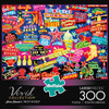 Amimee Stewart: Neon Dazzle - 300pc Jigsaw Puzzle By Buffalo Games (discon)