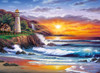 Lighthouse at Sunset - 1000pc Jigsaw Puzzle by Clementoni