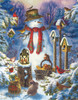 Snowman in the Wild - 1000+pc Jigsaw Puzzle by Sunsout