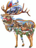 Reindeer Training - 800pc Jigsaw Puzzle by Sunsout
