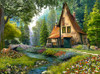 Toadstool Cottage - 2000pc Jigsaw Puzzle By Castorland