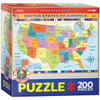 Map of the US - 200pc Jigsaw Puzzle by Eurographics