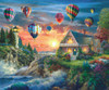 Balloons Over Sunset - 1000pc Jigsaw Puzzle By Sunsout