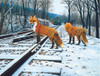 Fox Tracks - 300pc Jigsaw Puzzle By Sunsout