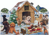Playing in the Snow - 900pc Shaped Jigsaw Puzzle By Sunsout