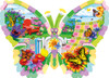Butterfly Summer - 1000pc Shaped Jigsaw Puzzle By Sunsout