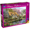 Picture Perfect III: White Stone Cottage - 1000pc Jigsaw Puzzle by Holdson