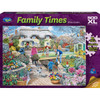 Family Times: Winter Garden - 500pc XL Jigsaw Puzzle by Holdson