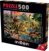 Landscape of Dinosaurs - 500pc Jigsaw Puzzle by Anatolian