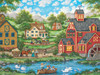 Heartland Collection: Swan Pond - 550pc Jigsaw Puzzle by Masterpieces