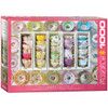 Colorful Tea Cups - 1000pc Jigsaw Puzzle by Eurographics