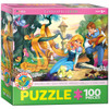 Beautiful Hair - 100pc Jigsaw Puzzle by Eurographics