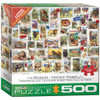 Vintage Stamps: Wildlife - 500pc Jigsaw Puzzle by Eurographics