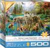 Wolf Lake Fantasy - 500pc Jigsaw Puzzle by Eurographics